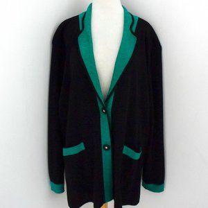 MISOOK cardigan jacket black & green